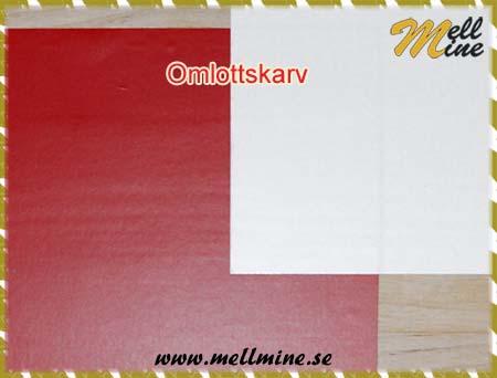 Omlottskarv - röd signal matt under vit matt