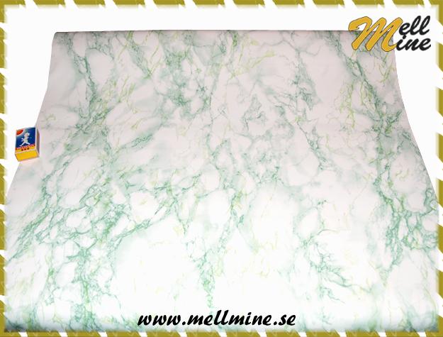 kontaktplast grön marmor